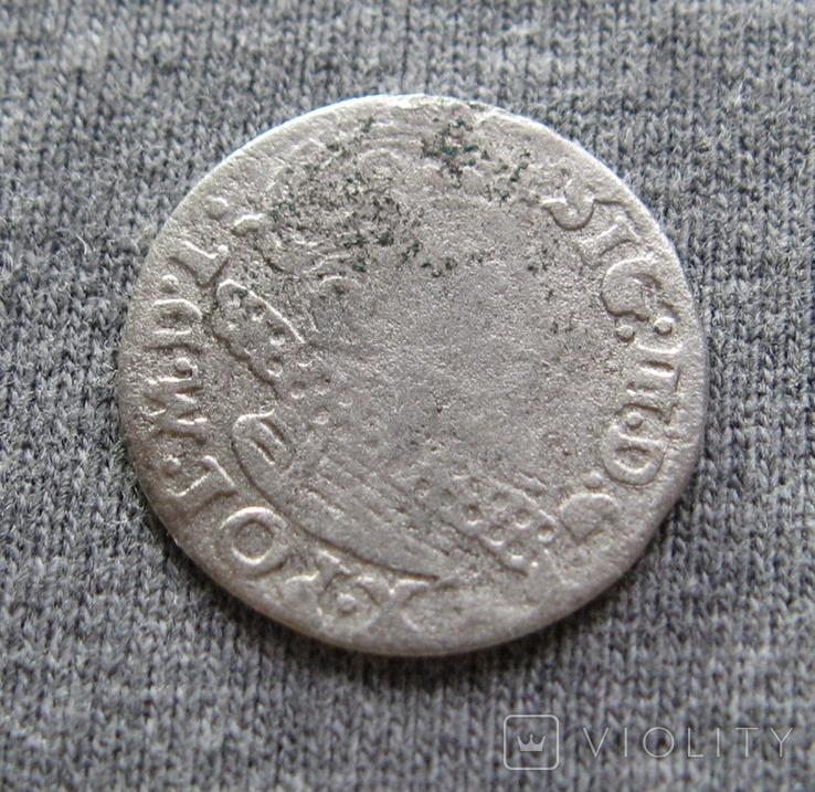 Аномальный трояк 1623 года. Сиг. ІІІ Ваза. Гетьманский трояк., фото №5