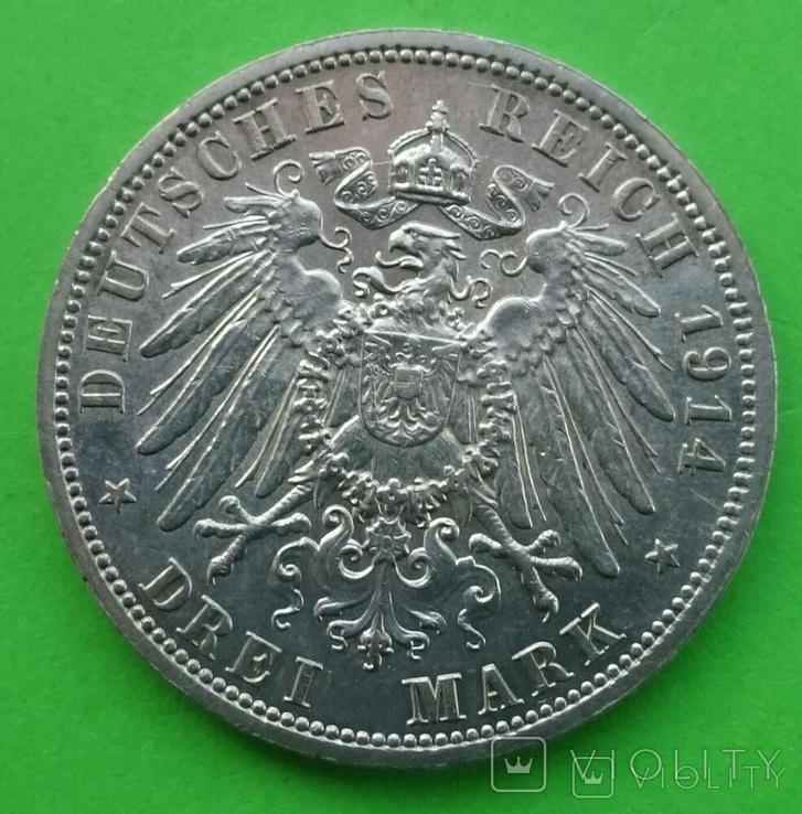 3 марки, Анхальт, 1914 год., фото №7