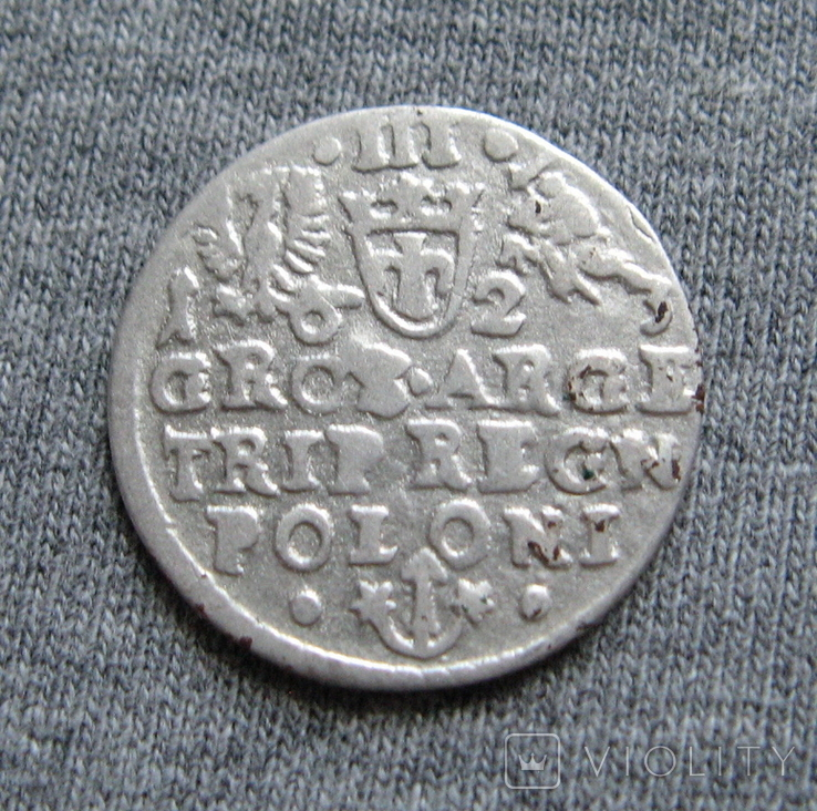 Трояк 1623 года. Сиг. ІІІ Ваза ( SIGIS ... POLO )., фото №7