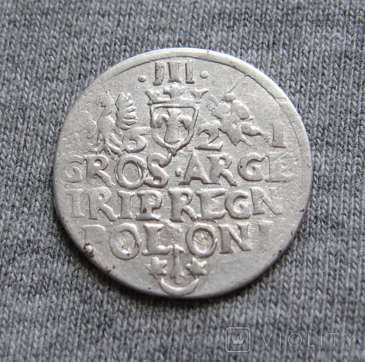 Трояк 1621 года. Сиг. ІІІ Ваза ( в GROS под О ещё одна О )., фото №6