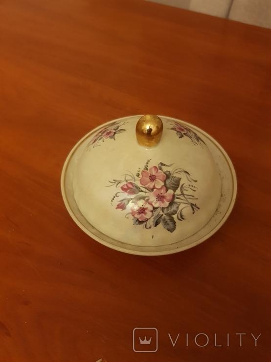 Масленка фарфоровая СССР, фото №2