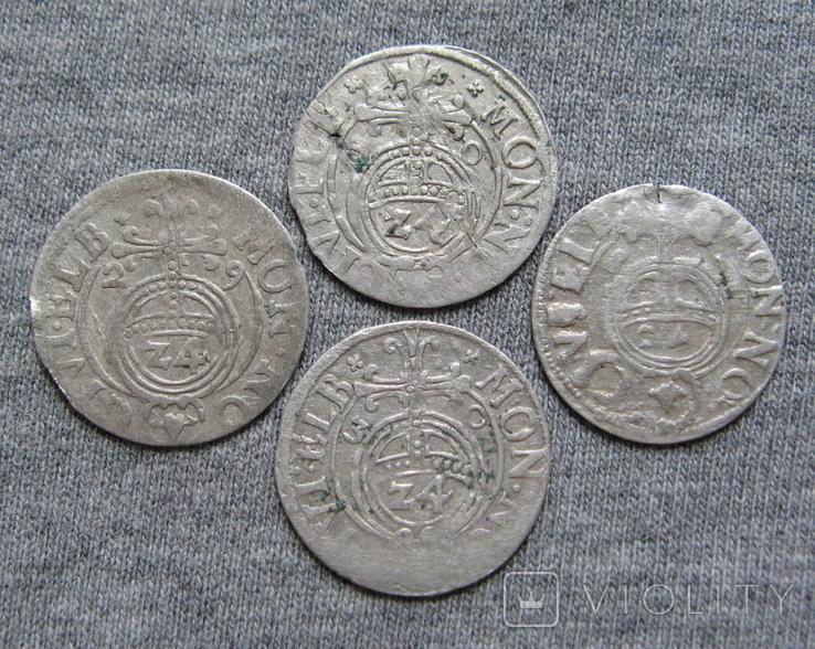 1/24 талера 1600-х годов. Густав Адольф. Эльбинг ( 4 штуки )., фото №2