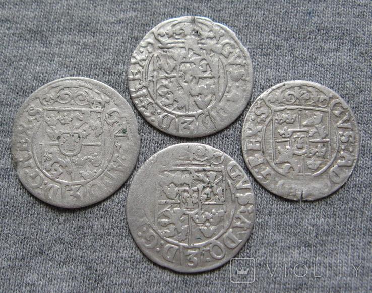 1/24 талера 1600-х годов. Густав Адольф. Эльбинг ( 4 штуки )., фото №3