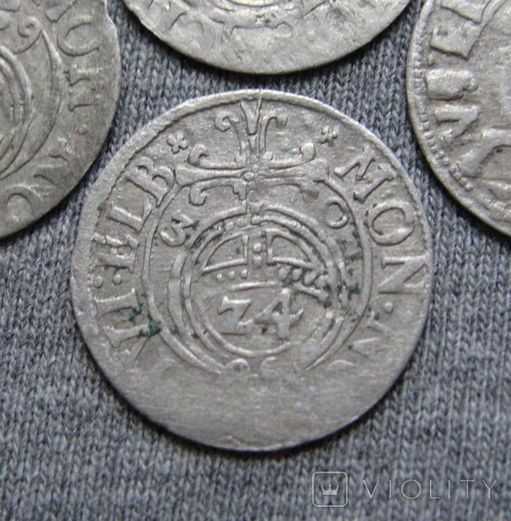 1/24 талера 1600-х годов. Густав Адольф. Эльбинг ( 4 штуки )., фото №6