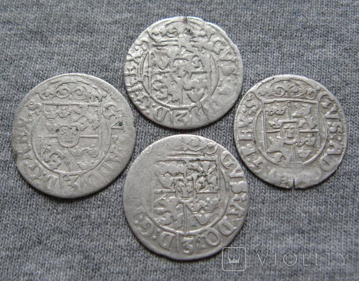 1/24 талера 1600-х годов. Густав Адольф. Эльбинг ( 4 штуки )., фото №9