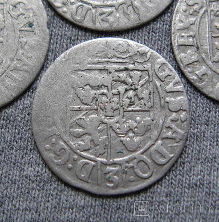 1/24 талера 1600-х годов. Густав Адольф. Эльбинг ( 4 штуки )., фото №12