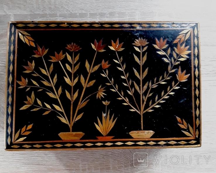 Шкатулка деревянная с орнаментом., фото №3
