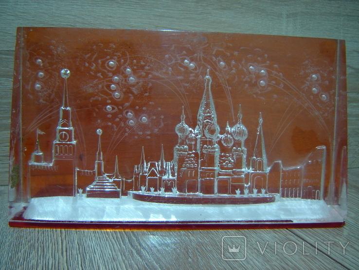 Сувенир СССР Оргстекло Москва - Красная площадь, фото №3