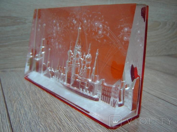 Сувенир СССР Оргстекло Москва - Красная площадь, фото №5
