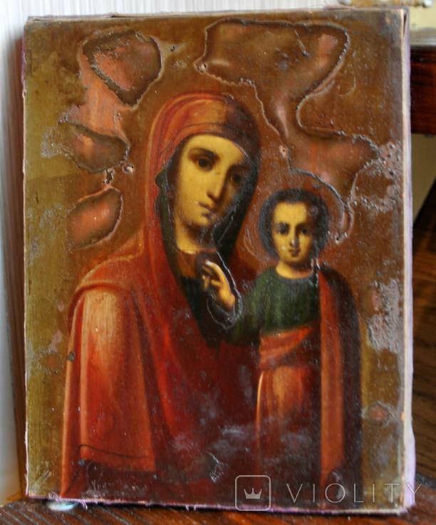 Ікона Божої Матері розмір 172х220мм, фото №2