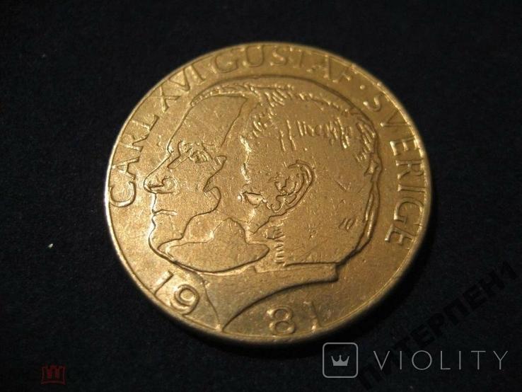 Швеция 1 крона 1981 U, фото №2