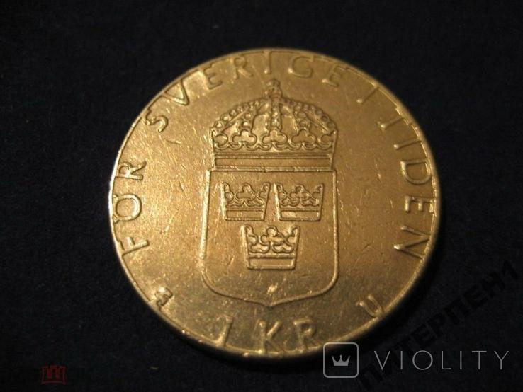 Швеция 1 крона 1981 U, фото №3