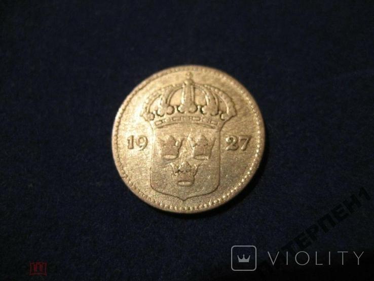 Швеция 10 эре 1927 W, фото №3