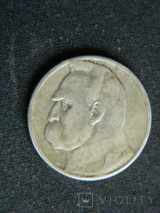 2 злотых 1934 Юзеф Пилсудсий, фото №2