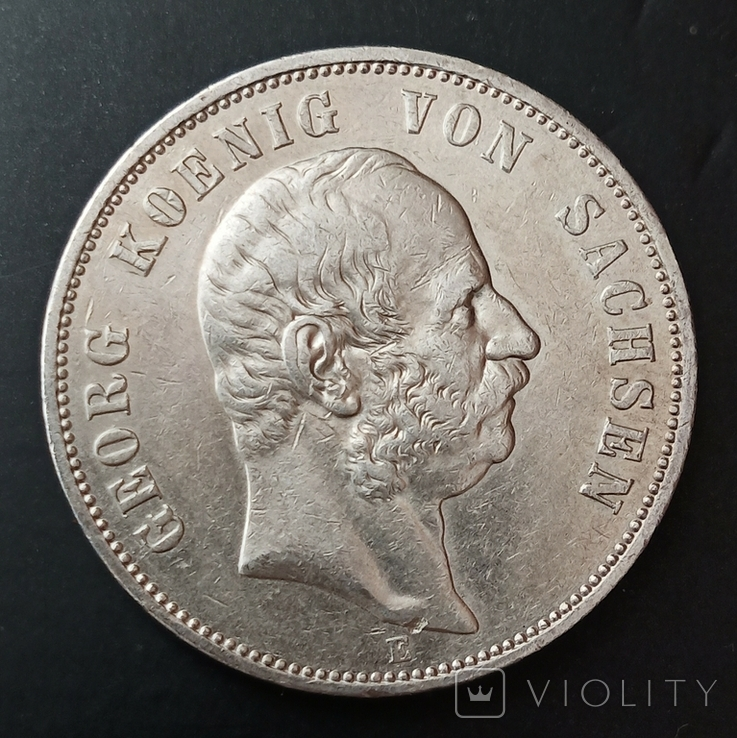 5 марок 1904 р. Саксонія. Георг, фото №2