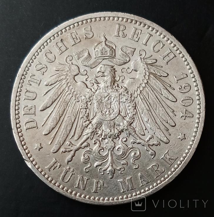 5 марок 1904 р. Саксонія. Георг, фото №4