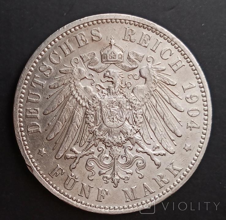 5 марок 1904 р. Саксонія. Георг, фото №5
