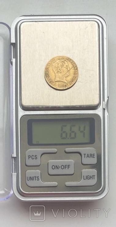 80 реалов. 1822. Фердинанд VII. Испания (золото 875, вес 6,64 г), фото №5