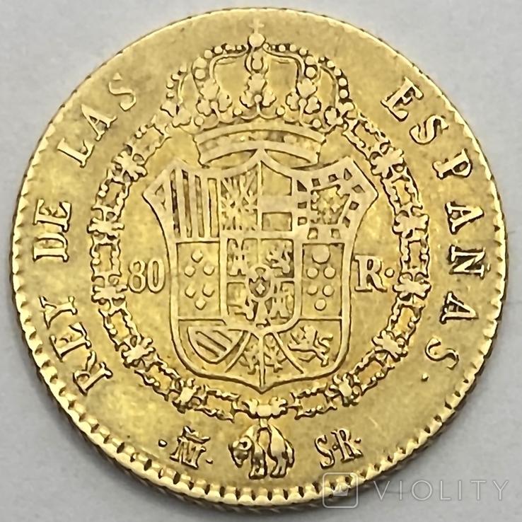 80 реалов. 1822. Фердинанд VII. Испания (золото 875, вес 6,64 г), фото №6