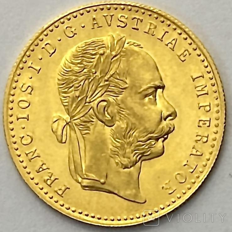 1 дукат. 1915. Франк Иосиф. Австрия (золото 986, вес 3,48 г), фото №3