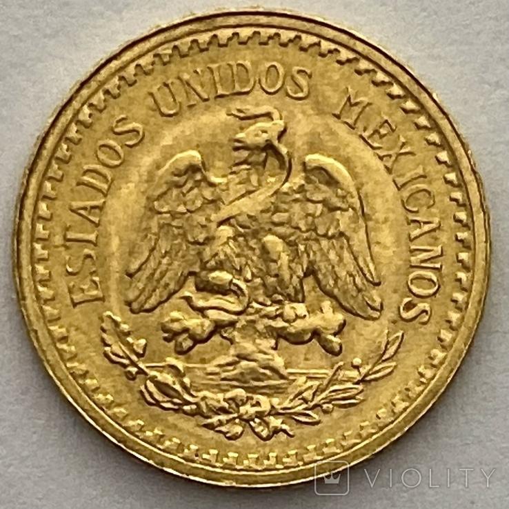 2,5 песо. 1945. Мексика (золото 900, вес 2,08 г), фото №4