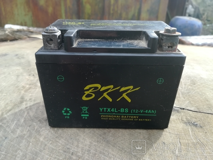 Старий акумулятор до скутера, фото №2