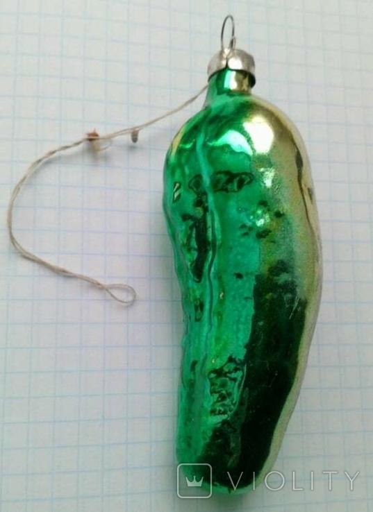 Елочная игрушка Огурец СССР, фото №2