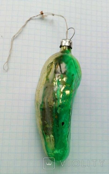 Елочная игрушка Огурец СССР, фото №3