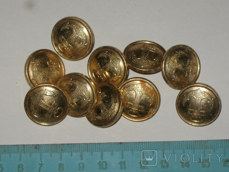 Пуговицы СССР Флот 10 штук, фото №2