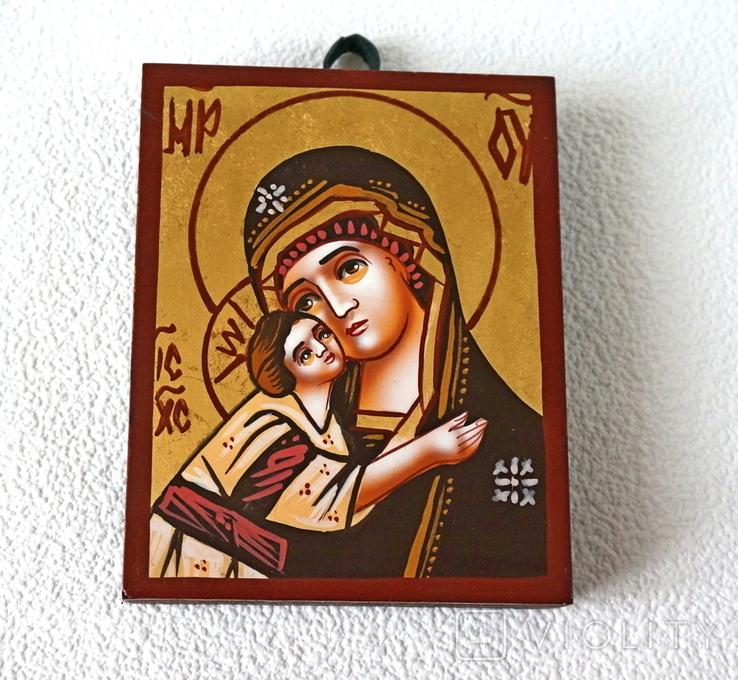 Дорожная маленькая икона Божьей матери с младенцем, фото №2