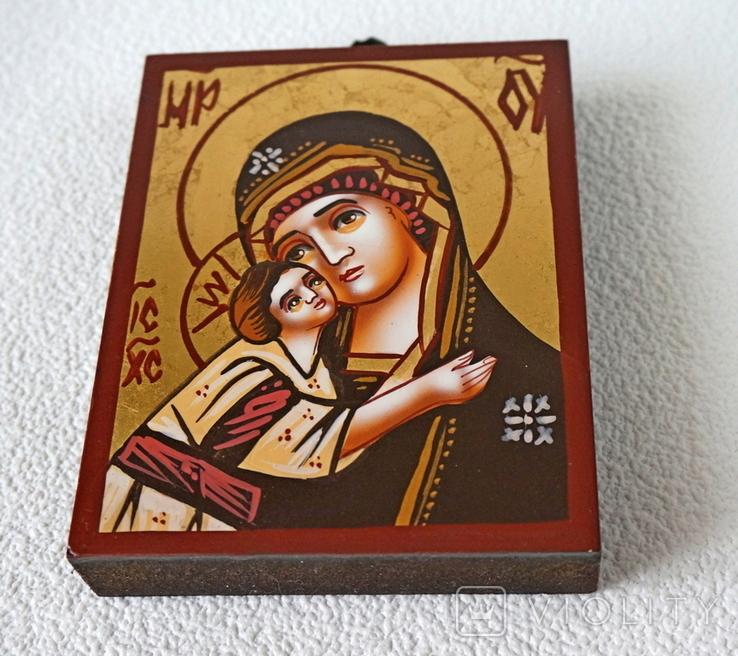 Дорожная маленькая икона Божьей матери с младенцем, фото №3