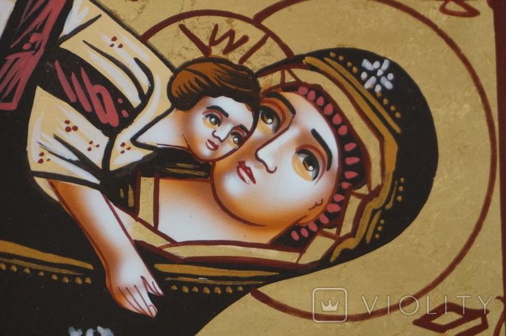 Дорожная маленькая икона Божьей матери с младенцем, фото №8
