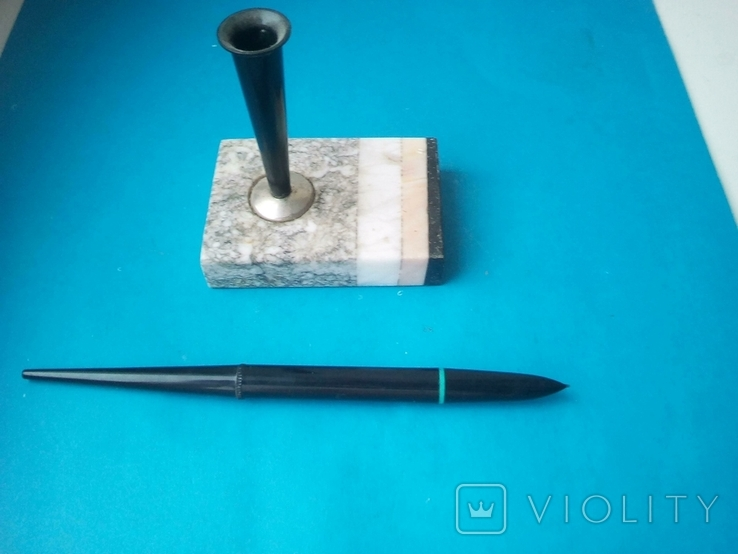 Ручка чернильная на подставке., фото №3