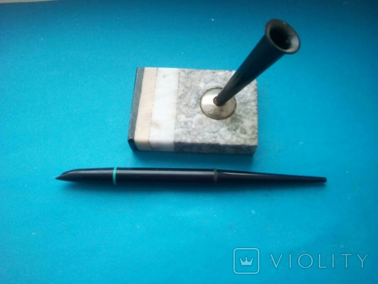 Ручка чернильная на подставке., фото №8