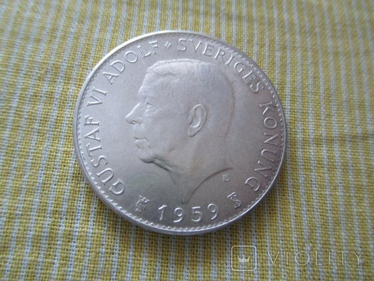 """Швеция 5 крон 1959 """"150 лет Конституции"""", фото №4"""