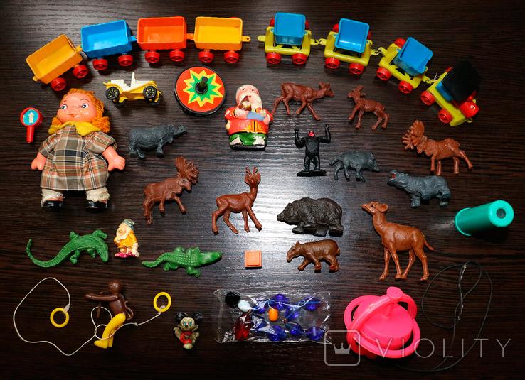 Набор винтажных, игрушечных фигурок (Польша, СССР, Франция)).