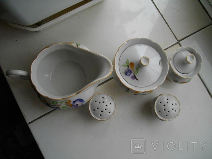 Набор для специй фарфоровый из 5 предметов, фото №4