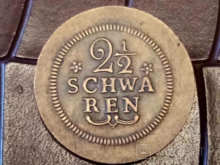 2 1/2 шварена 1802 року Німеччина -копія -бронза..., фото №2