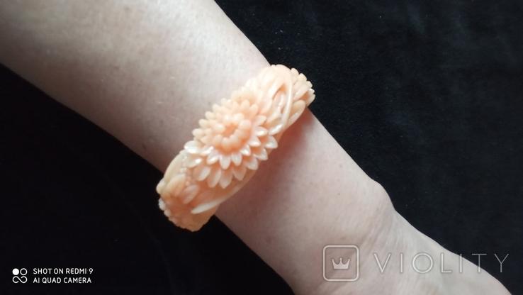 Резной целлулоидный браслет, фото №3