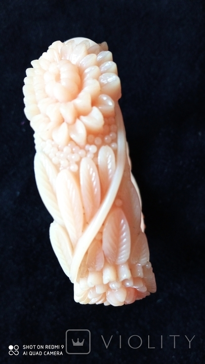 Резной целлулоидный браслет, фото №5