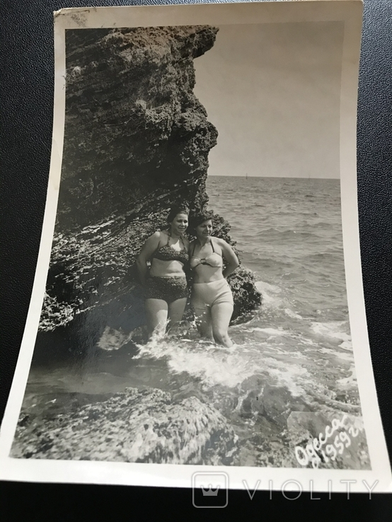 1959 Одесса Девушки в купальниках Камни, фото №3