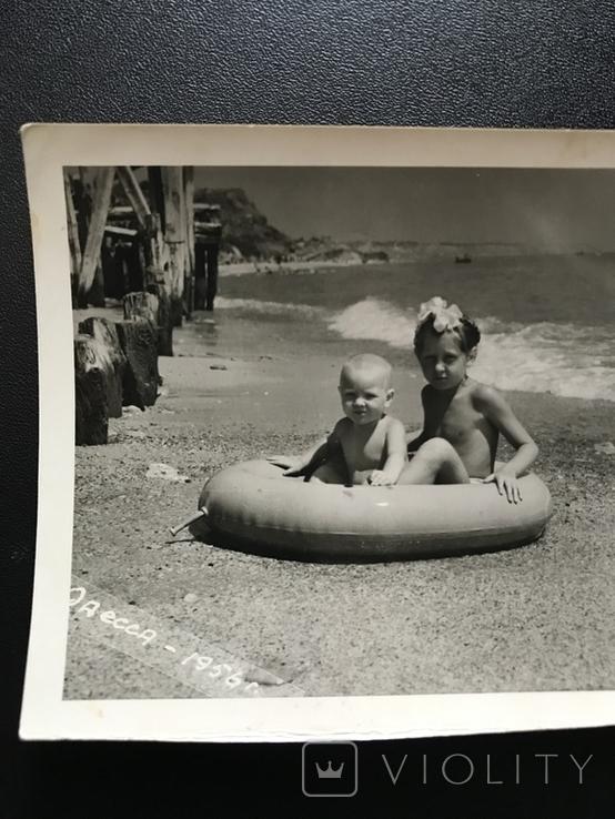 1956 Одесса Берег Дети с кругом, фото №4