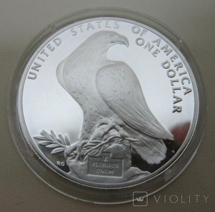 США 1 доллар XXIII летние Олимпийские Игры, Лос-Анджелес 1984, фото №3