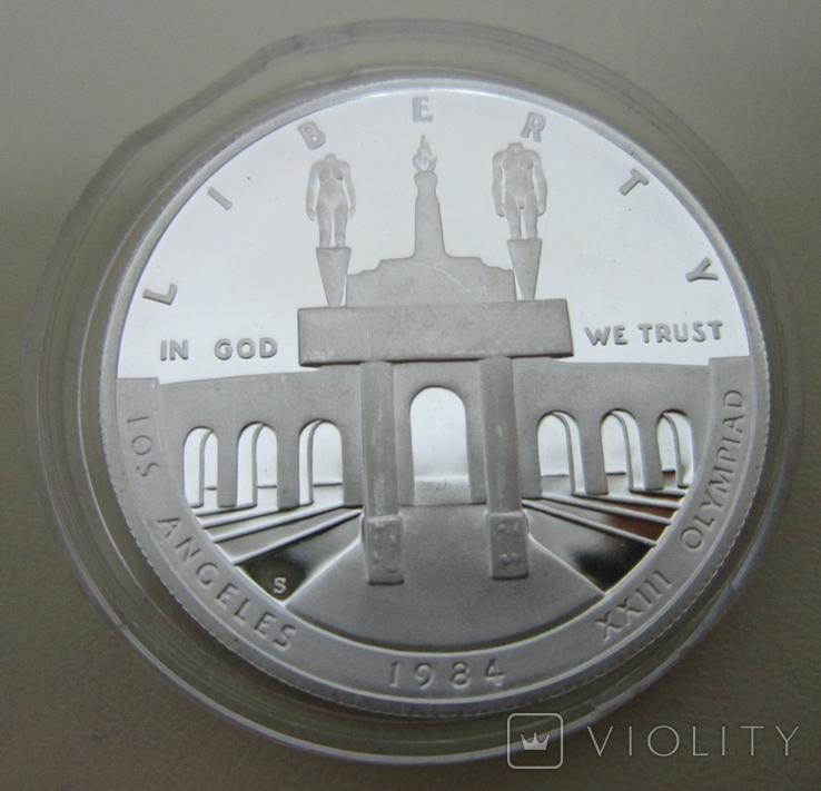 США 1 доллар XXIII летние Олимпийские Игры, Лос-Анджелес 1984, фото №8