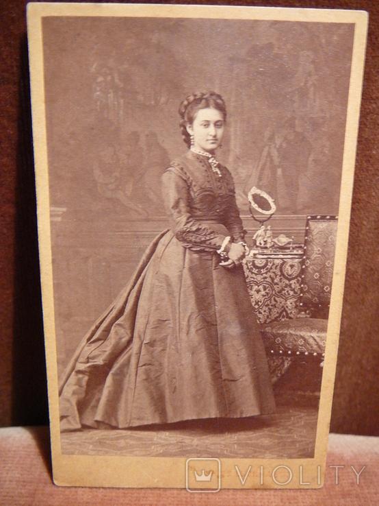 Открытка старинная: Дама., фото №3