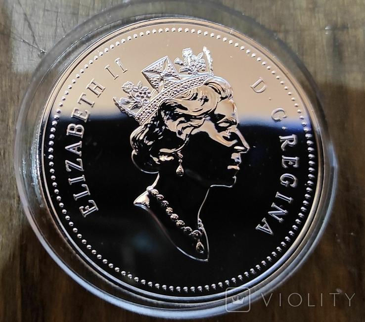 Канада 1 доллар 1995 г. Серебро. Корабль.Компания Гудзонова залива. Пруф, фото №3