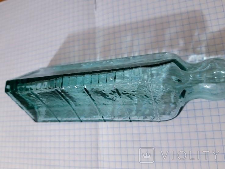 Мерная треугольная бутылка для уксусной эссенции СССР, фото №4