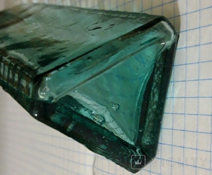 Мерная треугольная бутылка для уксусной эссенции СССР, фото №6