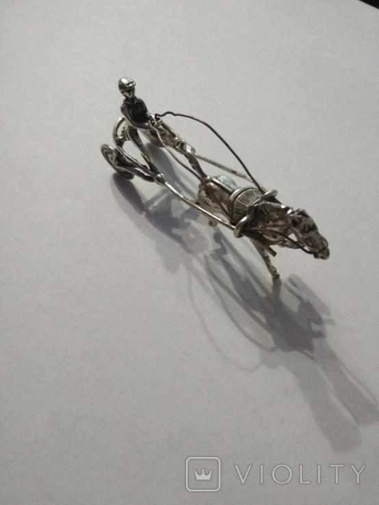 Серебряная колесница жокей, фото №8