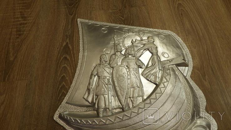 Настенная плакетка. Основаткли Киева., фото №8